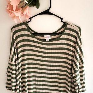 Lularoe T-shirt Dress Short Sleeve Striped